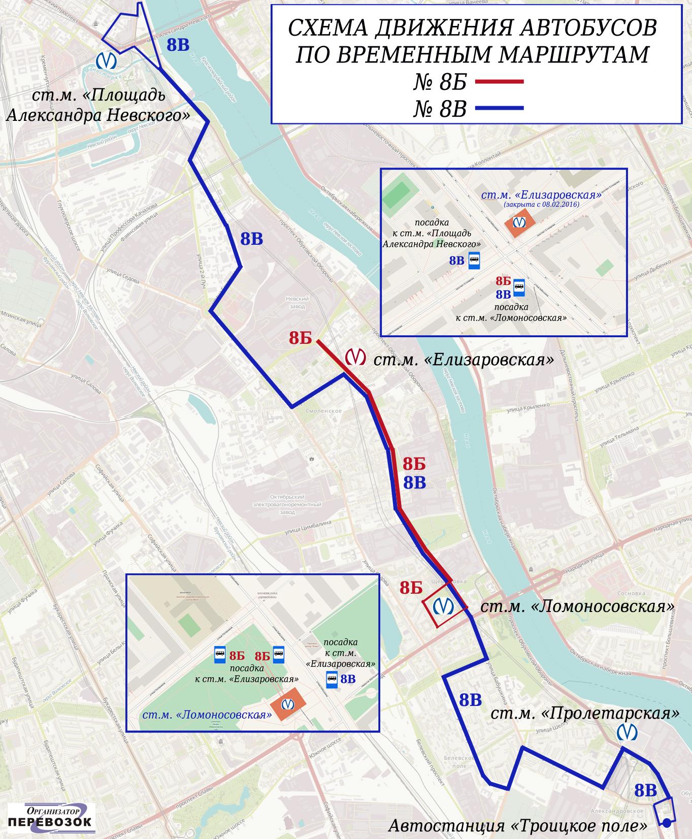 Схема движения автобусов по спб